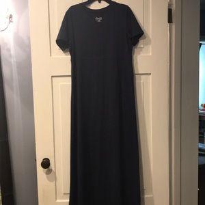 Denim & Co. blue maxi dress xxs RUNS BIG